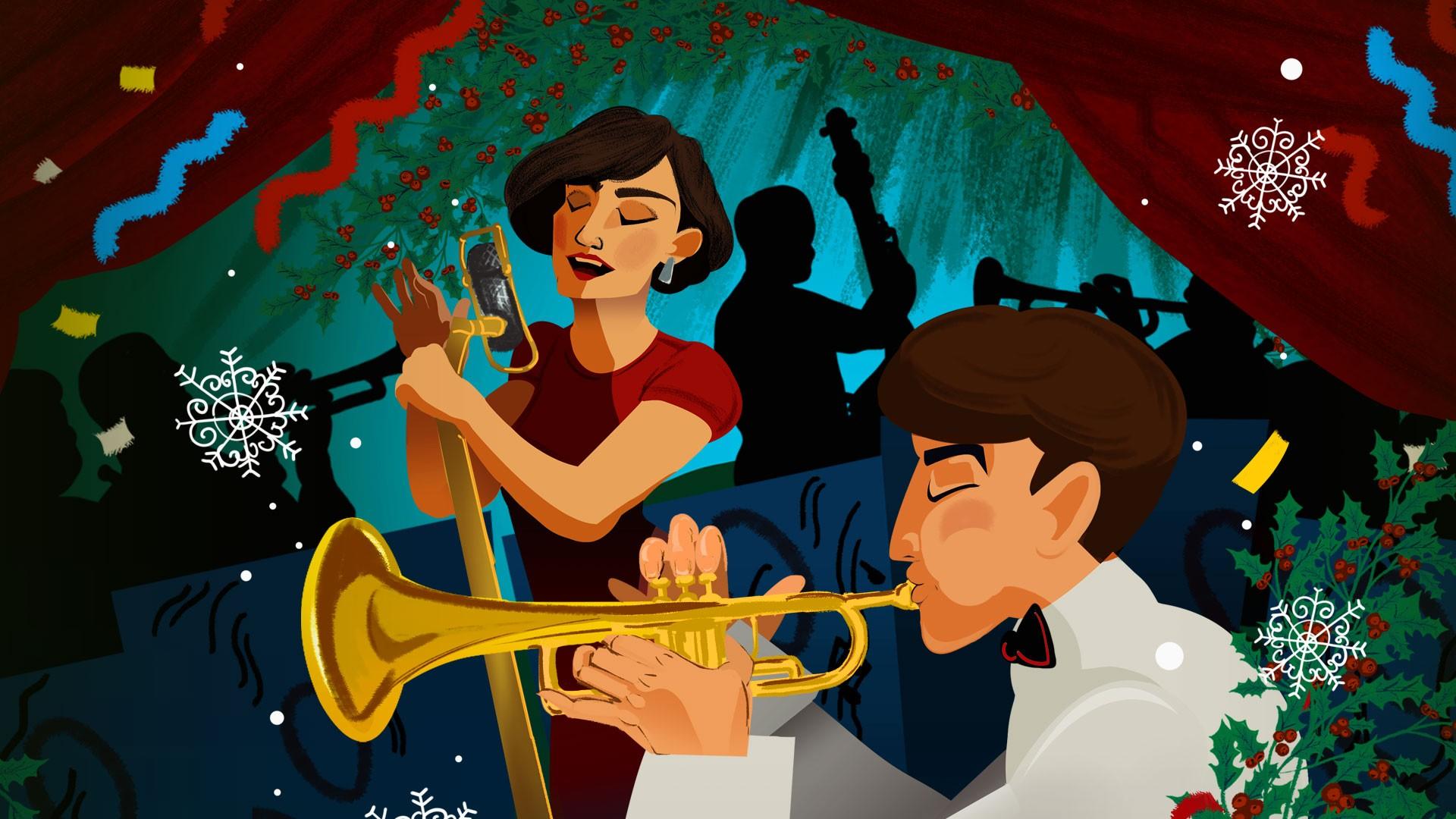 """Большой джазовый оркестр под управлением П. Востокова. Программа """"Рождественский вечер с Большим джазовым оркестром"""""""