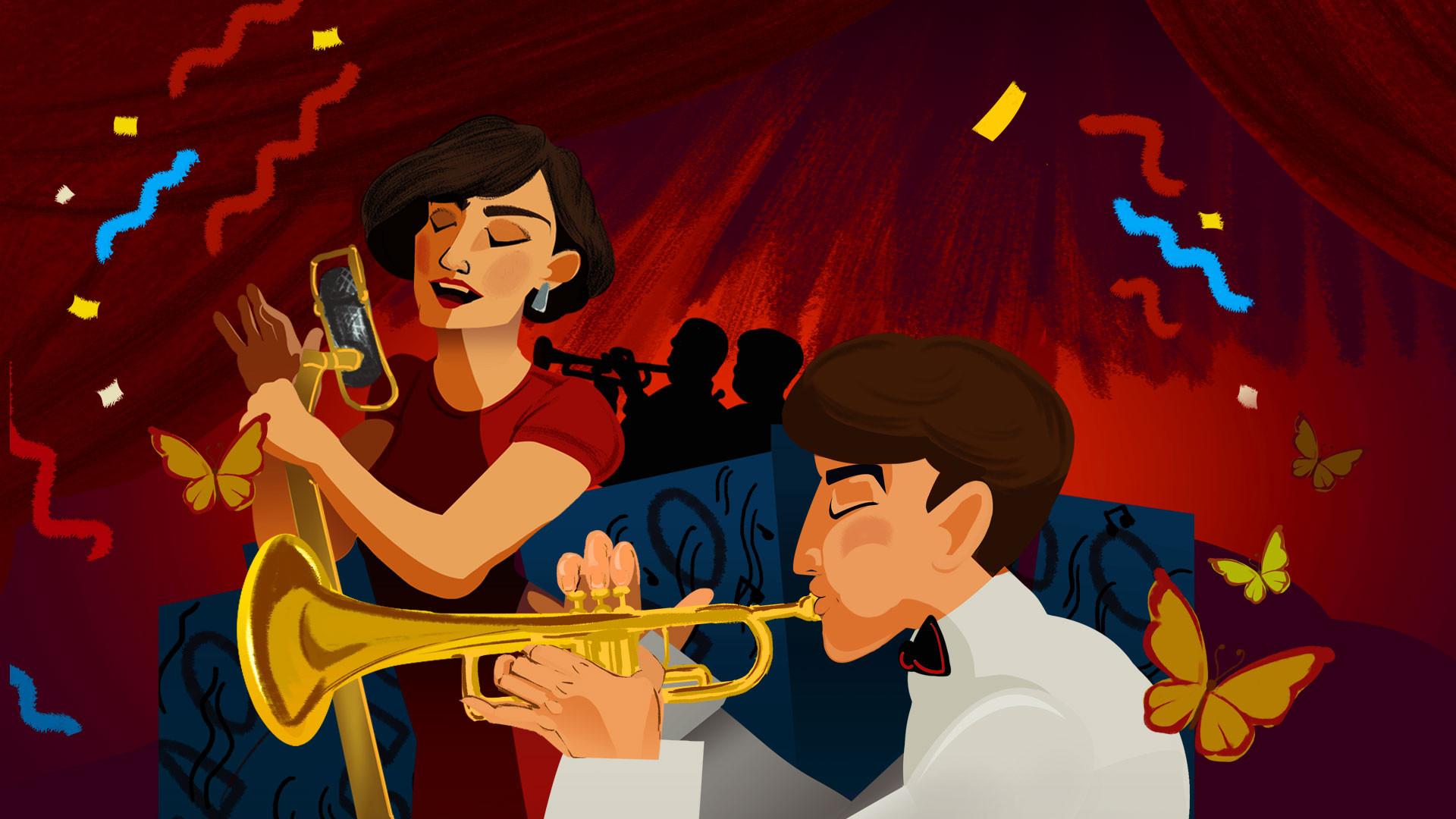 """Большой джазовый оркестр под управлением П. Востокова. Программа """"Джаз в бабочках"""""""